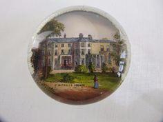Antique Victorian Souvenir Glass Paperweight - St Michaels Bognor - West Sussex