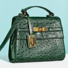"""✨FLASH SALE✨Mark. Good Things bag News Flash: Mini bags are a big deal! Clothes may make the man, but clothes with fabulous accessories make the woman! Faux ostrich-embossed leatherin deep green - a serious fashion fave. 8"""" W x 6 ½"""" H x 3"""" D (3"""" top handle drop; 25 ½"""" max L adjustable, detachable strap) used one time in perfect condition! Mark.  Bags"""