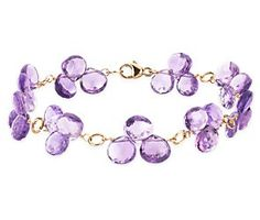 Amethyst Briolette Bracelet in 14k Yellow Gold from @Blue Nile