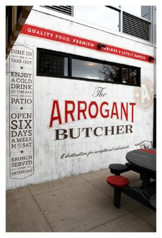Arrogant Butcher Restaurant Branding   Restaurant branding, marketing and other notes on various design topics