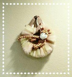 Baby Sophia Giraffe Tulle Wreath