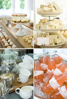 Shower With A Vintage Twist {guest feature} - Celebrations at Home -Euro-Style Baby Shower With A Vintage Twist {guest feature} - Celebrations at Home - Honey Bumble Bee First Birthday Party Decorations Pennant Bar A Bonbon, Gastro, Afternoon Tea Parties, Afternoon Tea Baby Shower Ideas, Party Entertainment, Summer Parties, Baby Shower Parties, Shower Party, High Tea