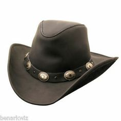 Kakadu-Razorback-Hat-Mens-Leather-BLACK