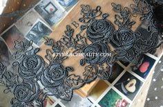 Elegent Black Luxury Wedding Lace Trim Rose by Lacebeauty on Etsy, $5.99