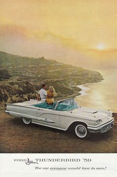Ford Thunderbird 1959 Vintage Ad - 1950's # 409