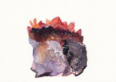 Citrine Crystal - Small Archival Print