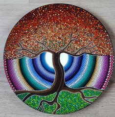 This hand painted plate is painted by Summer ter Hove.It was painted with high quality acrylic paint. 40 x 40 cm… Mandala Art, Mandala Rocks, Mandala Drawing, Mandala Painting, Dot Art Painting, Stone Painting, Dibujos Zentangle Art, Hand Painted Plates, Pebble Art
