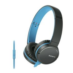 Sony MDR-ZX660AP Lightweight Headphone with Smartphone Control - Blue