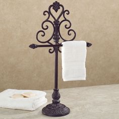 Aldabella Tuscany Slate Towel Stand/Jewelry Holder