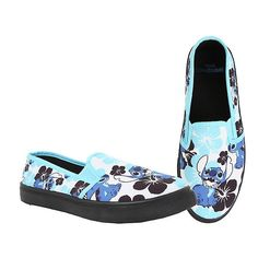 Disney Lilo Stitch Floral Slip-On Shoes Hot Topic ($25) ❤ liked on Polyvore featuring shoes, blue slip on shoes, floral shoes, disney, hawaiian shoes and synthetic shoes