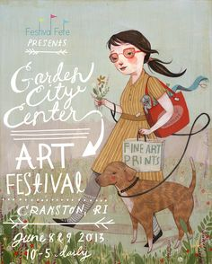 Festival Fete Poster By Rebecca Green