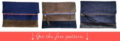 Free pattern and instructions on how to make a fold over clutch | isntthatsew.org