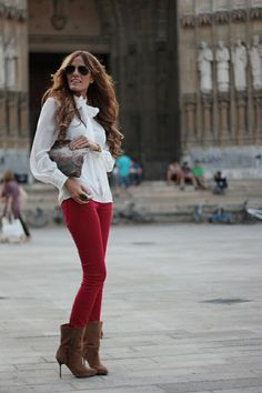CAbi-ize...Crimson Cords and Take a Bow Blouse....stunning...