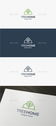 Tree Home - Logo Template - Buildings Logo Templates More