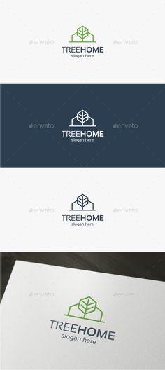 Tree Home - Logo Template - Buildings Logo Templates