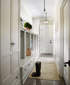Great color for cabinets: The cabinetry is painted in Moore 1557 Silver Song