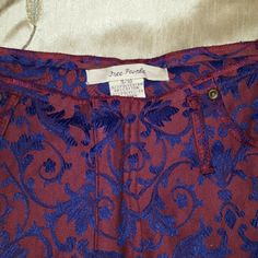 Free People brocade pants Free people brocade pants. Size 9/10. Gently used in great condition. Beautiful colors! Free People Pants Straight Leg