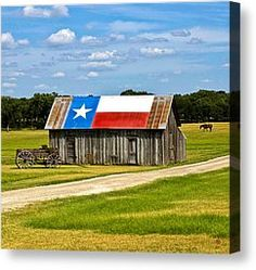 Texas Barn Flag Photograph by Gary Grayson - Texas Barn Flag Fine Art Prints and Posters for Sale