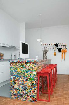 Lego Inspired Kitchen Island | Home and Garden | CraftGossip.com