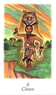 Clown (The Fool) - Vision Quest Tarot The Fool - Golden Tarot of the Renaissance 0 - The Fool (Tarot Card) The Fool Tarot Card. †he fool Tarot Tarot The Fool, Spiritual Warrior, Native American Wisdom, Vision Quest, Tarot Major Arcana, Joker, Medicine Wheel, Oracle Cards, Tarot Decks