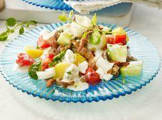 Unser beliebtes Rezept für Kartoffel-Gyros-Salat mit Tzatziki-Dressing und mehr als 55.000 weitere kostenlose Rezepte auf LECKER.de.
