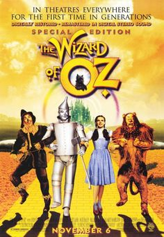 The Wizard of Oz - frame this iconic film poster if you're looking to jazz up a wall with technicolor.