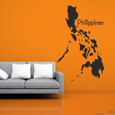 "Wandtattoo ""Philippinen"" - ab 9,95 € | Xaydo Folientechnik"