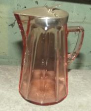 Heisey elegant depression glass pink tall syrup pitcher