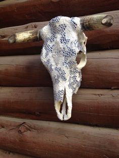 Creating custom cow skulls for your home , office and barn . Jack it up designs .