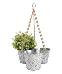DIY inspiration-White Botanicae  Hanging Pot