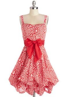 Train Trip Dress in Red Petals, #ModCloth