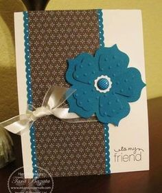 Cute.  I've seen many cards using this template, easy with the SU punches and pretty papers!