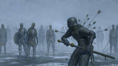 Medieval Knight, Medieval Fantasy, Dark Fantasy, Fantasy Battle, Apocalypse Art, Game Character Design, Character Art, Dark Art Drawings, Environment Concept Art