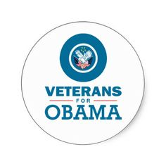 Veterans for Obama Stickers