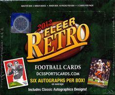 2012 Fleer Retro Football Cards Hobby Box - $319.95