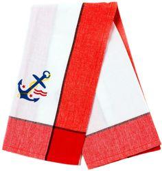 RETRO ANCHOR DISH TOWEL RED