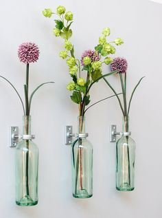 DIY: wine bottle vases | :: :: :: :: :: :: :: ::