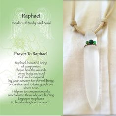 Prayer to Raphael! Angel, Traveling Companion, Protector, Advisor and Healer, One of the Seven that stand before God Archangel Raphael Prayer, Archangel Prayers, Archangel Michael, Raphael Angel, St Raphael, Chakras, Angel Guide, Angel Quotes, I Believe In Angels