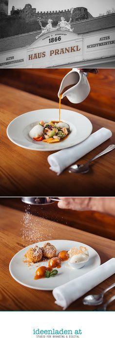 Food Photography for Gasthof Prankl in Spitz // Lower Austria Corporate Identity Design, Branding Digital, Grafik Design, Studio, Austria, Panna Cotta, Food Photography, Ethnic Recipes, Studios