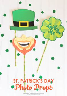 Silly St. Patrick's Day Photo Props Free Printables!