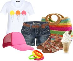 """Ice Cream"" by maggie-jackson-carvalho ❤ liked on Polyvore"