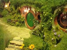 Bilbo fans should check out this blog. The artist created a miniature Bag End.