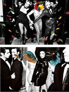 VinZ gerust - samenwerking met Mario Testino voor Vogue Spanje  Set van twee afgedrukte foto's met de twee collaged foto's ontworpen door Vinz en Mario Testino voor Vogue Spanje - editie 50 kopieën - afgestempeld en ondertekend genummerd. Deze veiling is de genummerde 18/50 ingesteld voor de foto.De laatste twee foto's tonen deze gepubliceerde ontwerpen bij Spaanse Vogue in December 2012 (tijdschrift niet inbegrepen).Afmetingen: 21 x 29 cm elk.Voorwaarde: mint.  EUR 3.00  Meer informatie