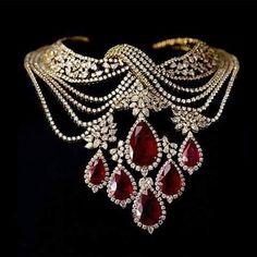 Beautiful diamonds ruby necklace by – Beautiful Jewelry Ruby And Diamond Necklace, Ruby Necklace, Ruby Jewelry, Bridal Jewelry, Diamond Jewelry, Jewelery, Fine Jewelry, Diamond Necklaces, Women's Jewelry