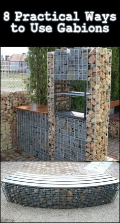 See the different ideas we've collected where you can make use of gabions.
