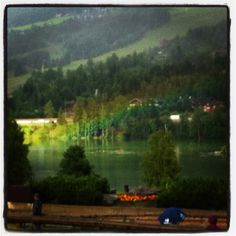 Rainbow in the lake