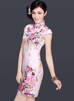 Short Chinese Cheongsam / Qipao Dress