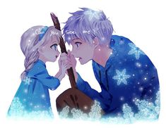 disney jack frozen jack frost rise of the guardians elsa queen elsa jelsa jack x elsa jackxelsa Disney Kunst, Disney Fan Art, Disney Love, Disney Magic, Disney Frozen, Frozen Frozen, Jack Frost Und Elsa, Jack Y Elsa, Disney And Dreamworks