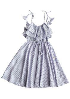 Emma Dress- Lilac Clover Print