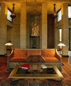 Frank Lloyd Wright's Ennis House.